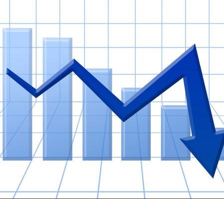 bigstock Blue D Arrow Graph Going Down 177979981 e1512823277850