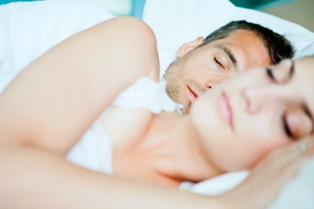 couple sleeping peacefully