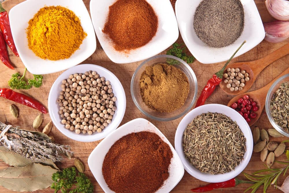 different kinds of supplements in bowls