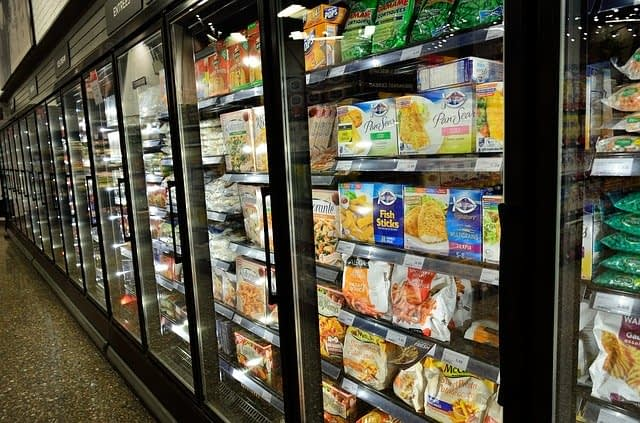 frozen and processed food