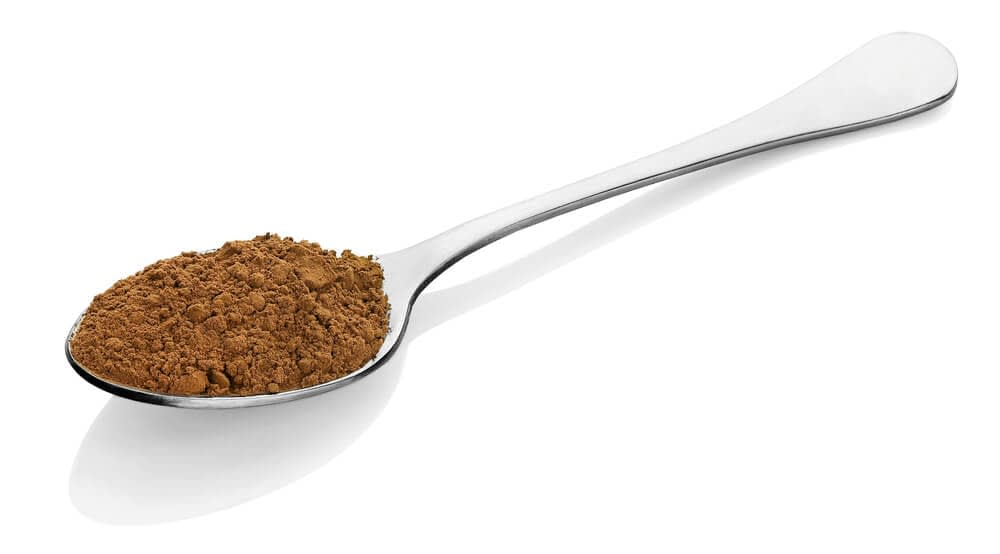 un topped tablespoon of horny goat weed