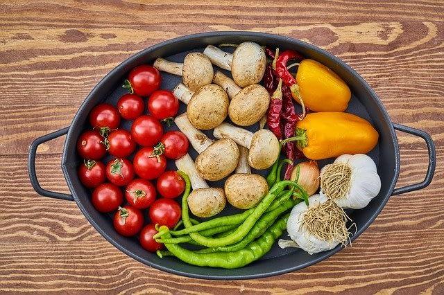 vegatables in a big pot