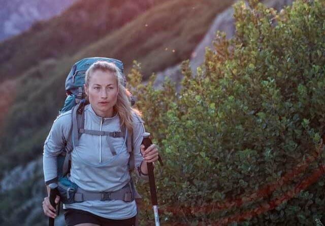 woman on hiking trip
